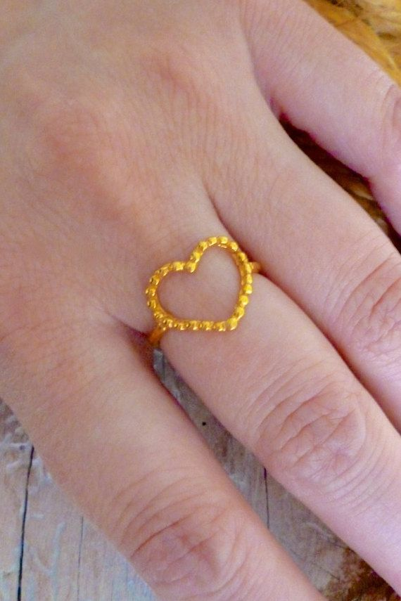 Hey, I found this really awesome Etsy listing at https://www.etsy.com/listing/269286022/heart-ring-gold-heart-ring-minimal-ring