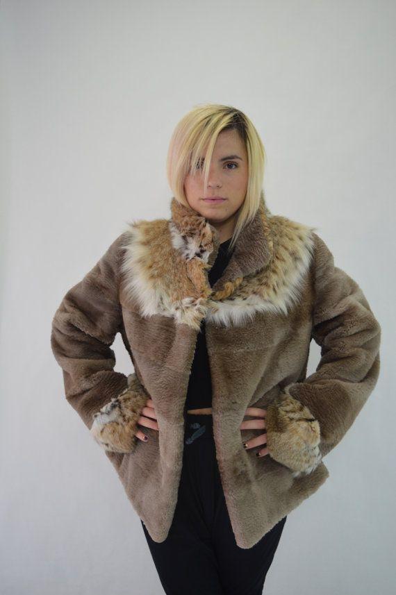 Real fur jacket real fur coat sheared Beaver fur beaver by BeFur