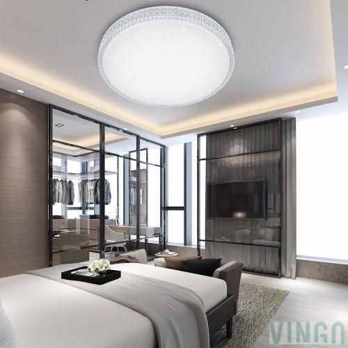 VINGO 50W LED Kristall Deckenleuchte Sternenhimmel Kaltweiß - led deckenbeleuchtung wohnzimmer