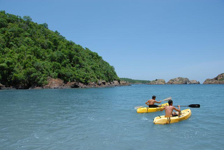 Ocean kayaking at Bahia Paraiso Cuixmala
