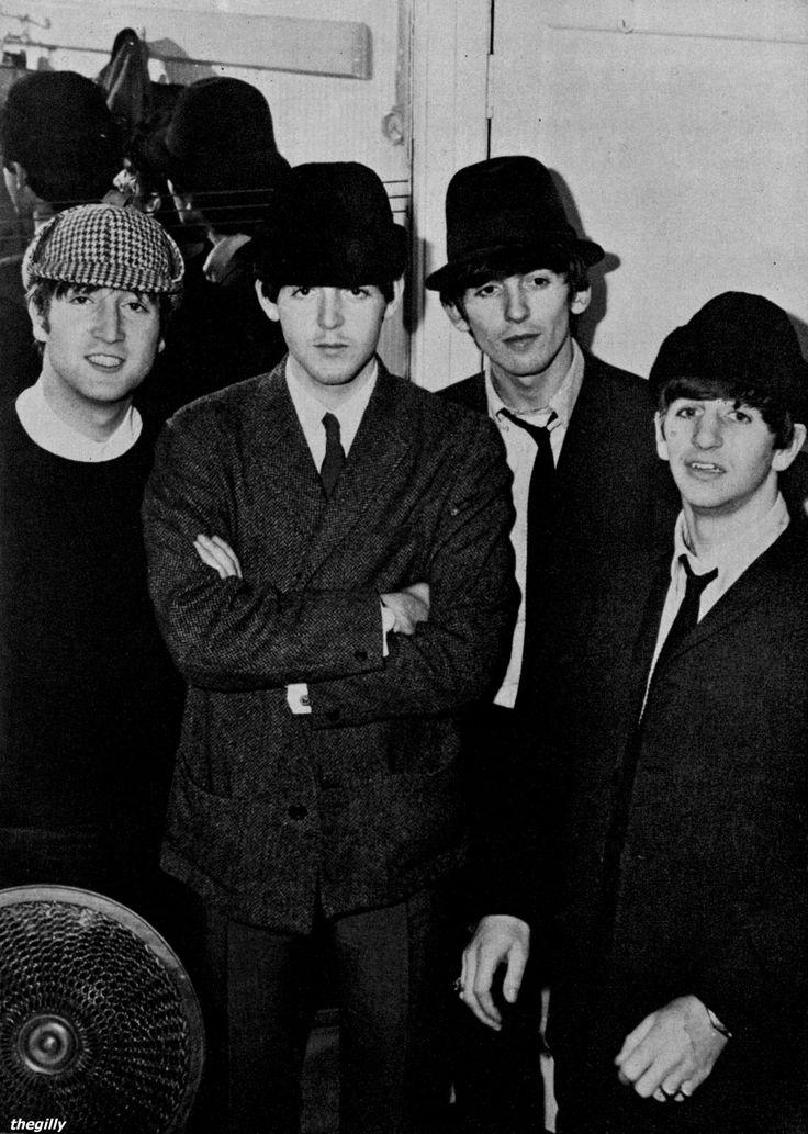 The Beatles backstage at the Wolverhampton Gaumont, 19 November 1963.