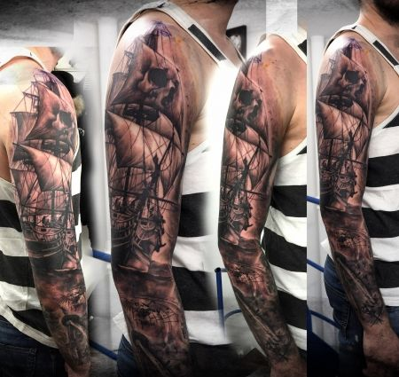 best 25 guy tattoo sleeves ideas on pinterest guy. Black Bedroom Furniture Sets. Home Design Ideas