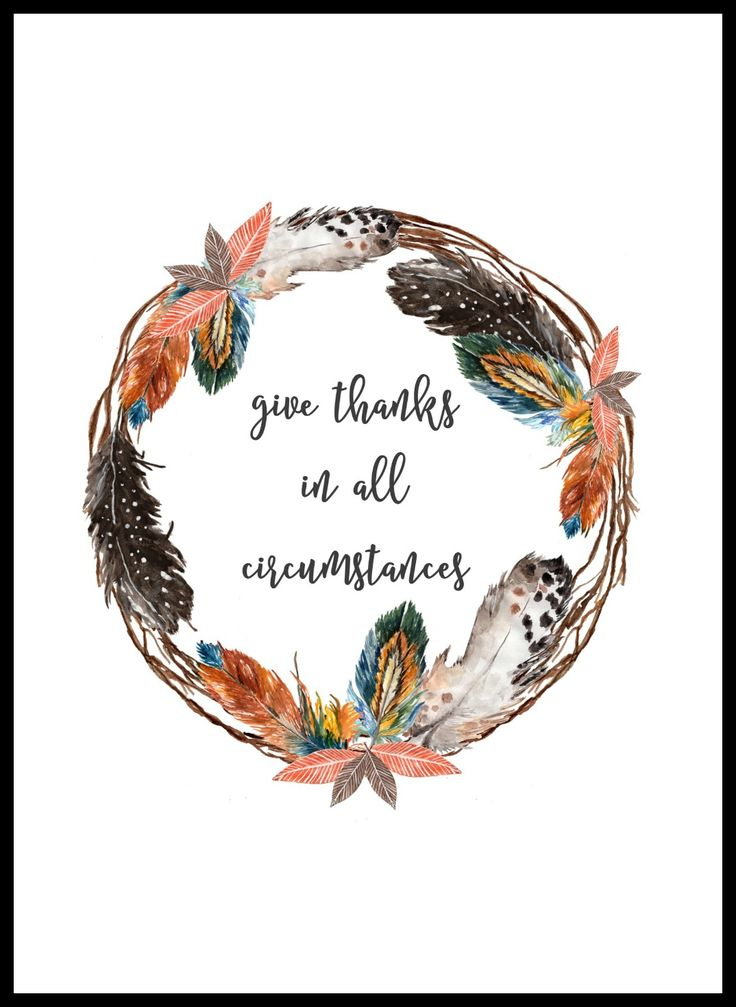 FREE Give Thanks Feather Wreath Printable is perfect for displaying for the Thanksgiving holiday or any time of year!