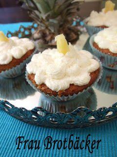 Frau Brotbäcker: Ananas-Kokos-Cupcakes