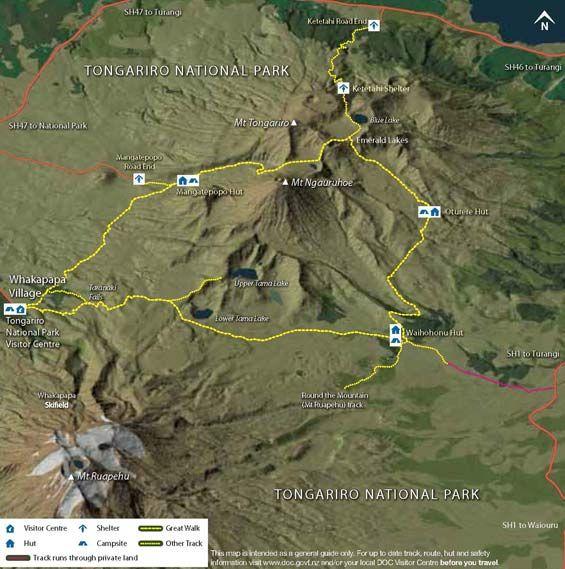 Tongariro Northern Circuit map.