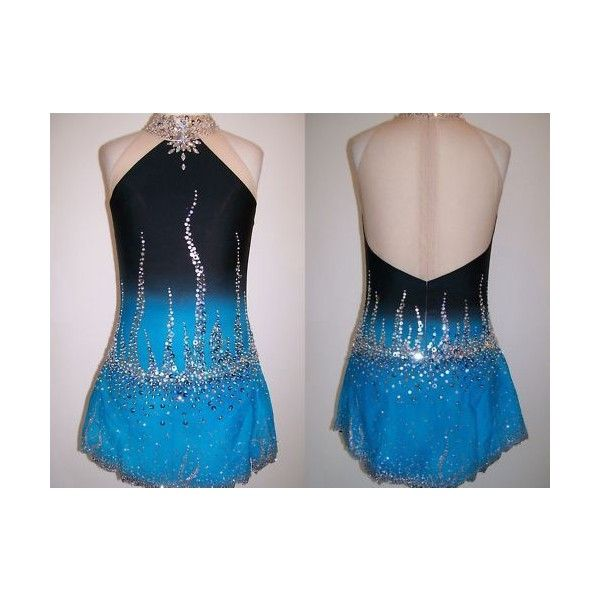 Figure Ice Skating dress/Baton Twirling Leotard/Dance Costume Made To... ❤ liked on Polyvore featuring costumes, costume, sports costumes, sport costumes, sport halloween costumes and sports halloween costumes