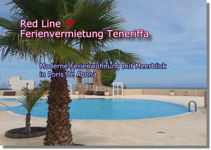 Moderne Ferienwohnung mit Meerblick in Teneriffa; Poris de Abona