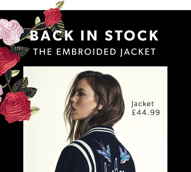 BACK IN STOCK - THE EMBROIDED JACKET LAYERING
