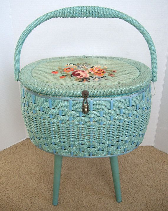 Vintage sewing basket