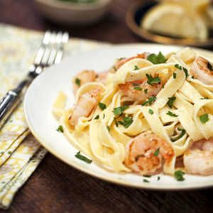 This 5-star Shrimp Fettuccine Alfredo, which calls for quick-cooking refrigerated pasta, is a great go-to dish for hectic weeknights.