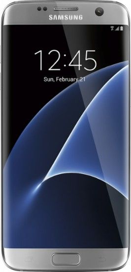 Samsung - Refurbished Galaxy S7 edge 4G LTE with 32GB Memory Cell Phone (Unlocked) - Titanium silver - Front Zoom