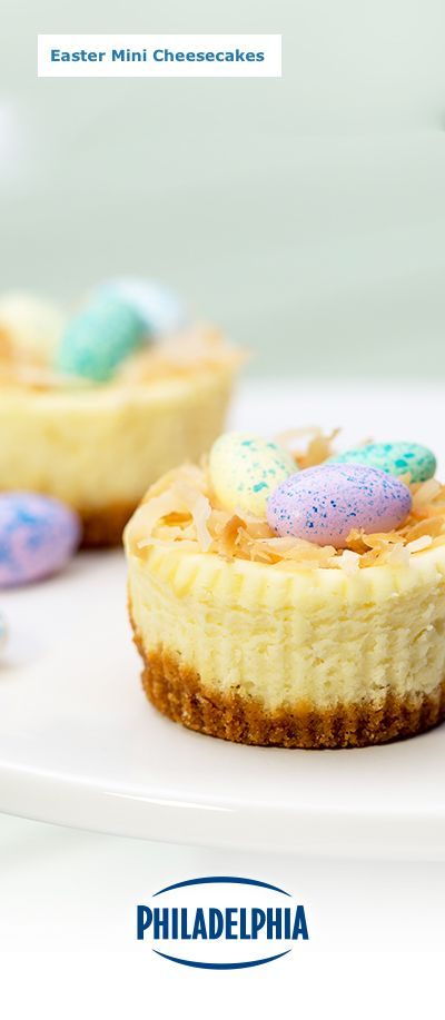 Looking for a fresh new Easter favourite? These bite-sized treats will make the perfect addition to anyone's basket. They're made with Philadelphia® Brick Cream Cheese, and topped with decadent chocolate eggs in a toasted coconut nest. Now that's something to celebrate.