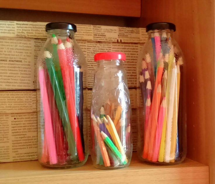 Bottles from glass