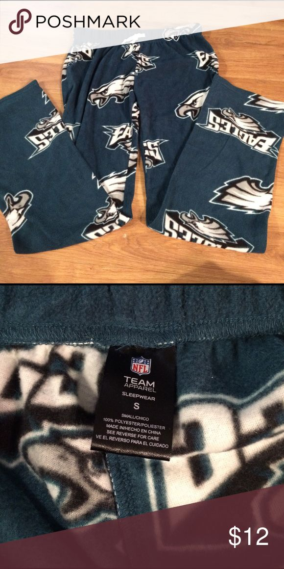 NWOT Philadelphia Eagles Fleece Pajama Pants Brand new, never worn, women's fleece Philadelphia Eagles pajama pants in size small. They have a tie waist and are super soft. NFL Team Apparel Intimates & Sleepwear Pajamas