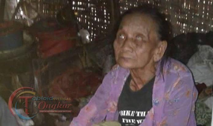 Wanita Tua Asal Tulungagung, Hidup Sebatang Kara