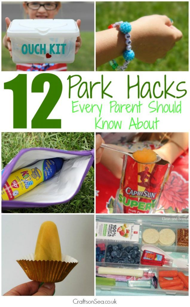 These parenting hacks for trips to the park are awesome! Make your summer more fun and a lot less stressful too!