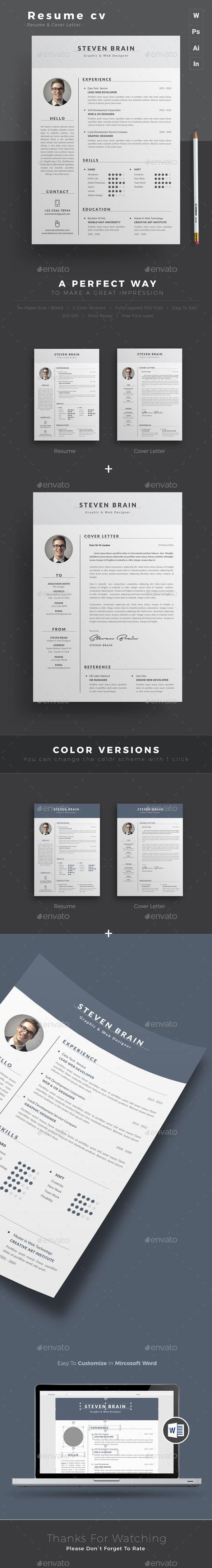 Resume — Photoshop PSD #creative resume #portfolio • Available here → https://graphicriver.net/item/resume/15438388?ref=pxcr