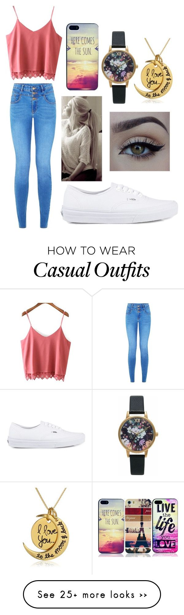 """Casual"" by thefashionqpolice on Polyvore featuring xO Design, Vans, Caso and Olivia Burton"