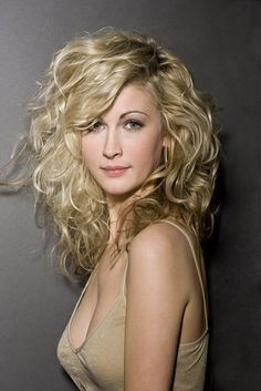 curly long layered hairstyle