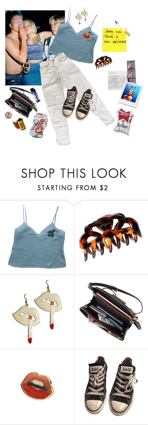 """""""it's friday night in 2005, i'm 19 and i live in new york"""" by sammabro ❤ liked on Polyvore featuring Miu Miu, H&M, Kodak, Converse and vintage"""