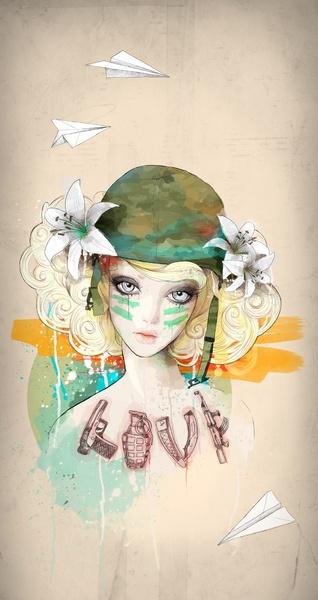 War girl  by Ariana Perez