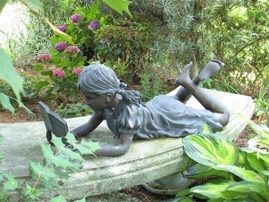 25 best ideas about garden statues on pinterest garden sculptures concrete garden statues - Reading fairy garden statue ...