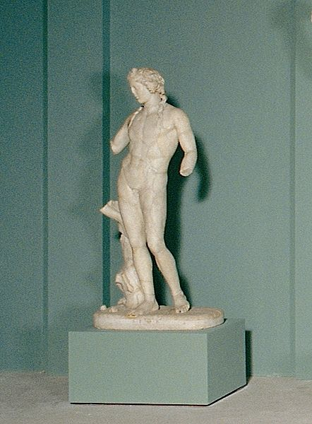 Statue of Dionysus with a panther / Dionysus and his followers / Sala caldaie. From the Horti liciniani