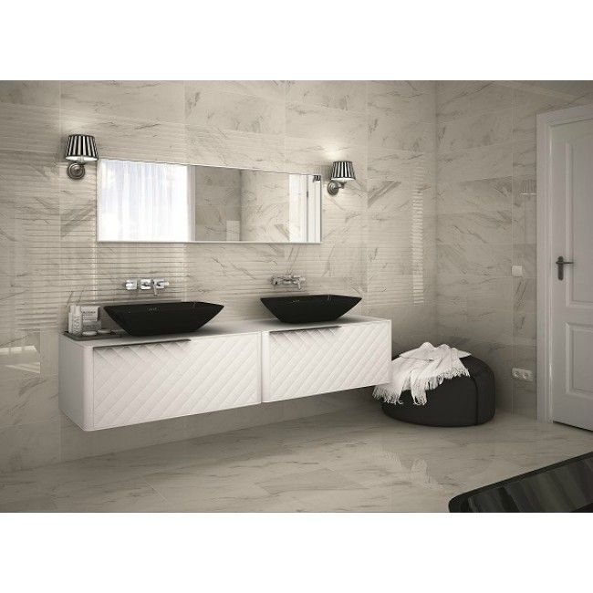 a beautiful matt finish and grey glaze makes the eternal linear wall tile an excellent complement to any kitchen or bathroom wall the textured feel of this