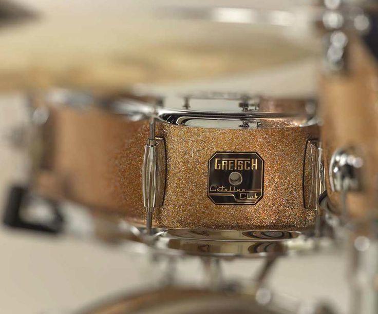 Gretsche Catalina Club Jazz snare drum in copper sparkle