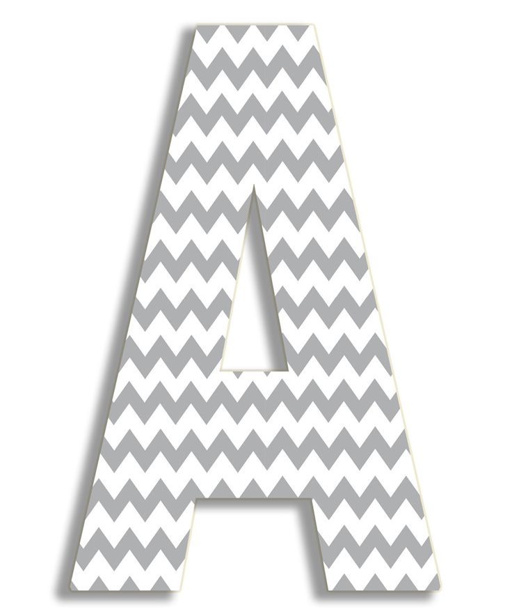 This Grey Chevron Letter Wall Art by Stupell Industries is perfect! #zulilyfinds