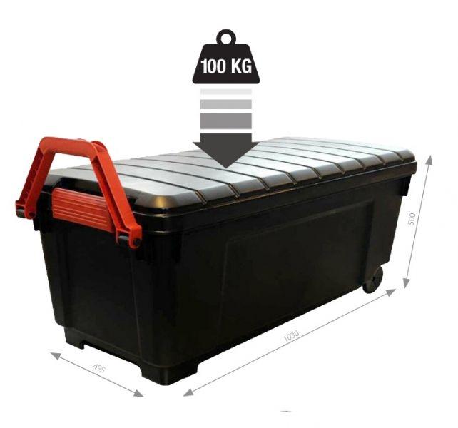 Cutii depozitare profesionala roti PowerBox 170 litri