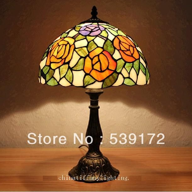 Бесплатная Доставка 12 Дюймов Shell лампа, лампа тиффани, Бесплатная 5 Вт E27 СВЕТОДИОДНЫЕ Лампы для продвижения, настольный Светильник для гостиной 90-260VAC TEN-T-100
