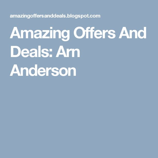 Amazing Offers And Deals: Arn Anderson