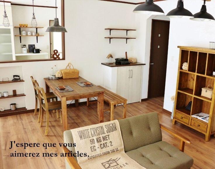 ●カフェ風モデルハウス、ひとまず完成*インテリアコーディネートで気を付けたこと● |・:*:ナチュラルアンティーク雑貨&家具のお部屋・:*