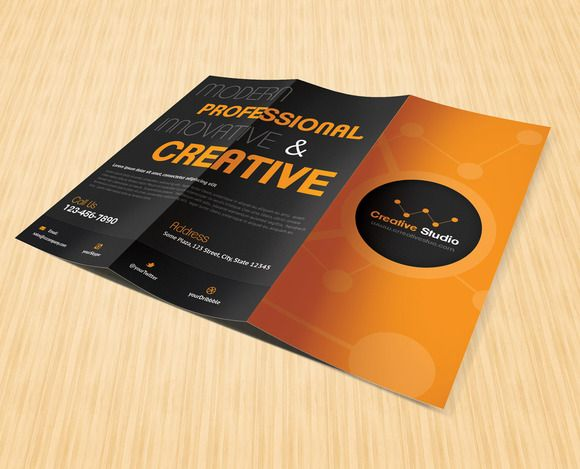Creative Studio Trifold Brochure by Saptarang on Creative Market