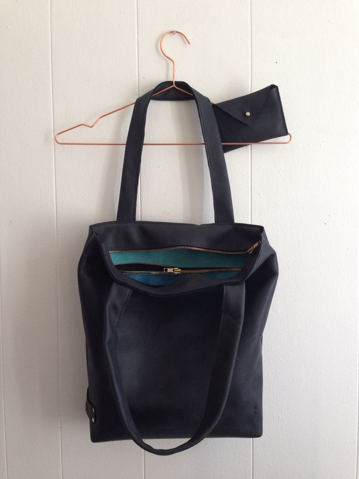 Black beauty! Leather bag with zipper.  https://www.facebook.com/Puckdesigns