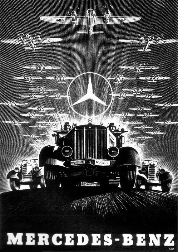 1920s advertisements | Aggressive advertising: For Mercedes-Benz, from the Nazi propaganda ...