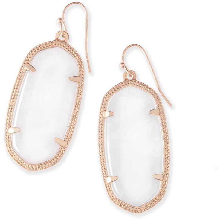 Kendra Scott: Elle Rose Gold Earrings In Ivory Pearl