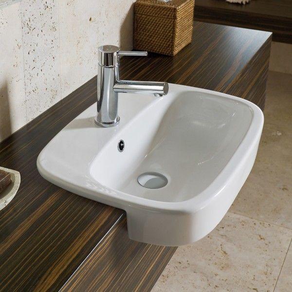 Fowler Regent Semi Recessed Vanity Basin - 1TH