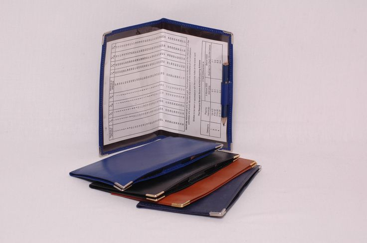 Golf Score Card Holder.