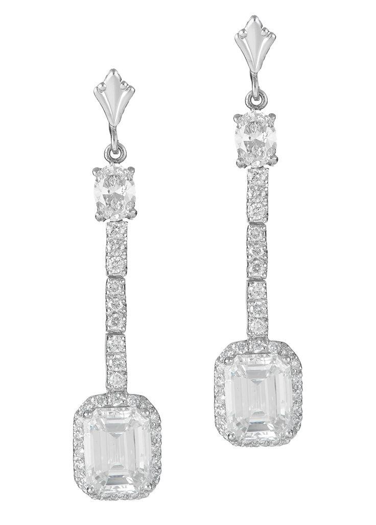 Haute Vault, long diamond earrings, diamond cut, caters to brides and grooms, fine jewelry, spectacular diamond earrings http://loveluxelife.com/haute-vault/