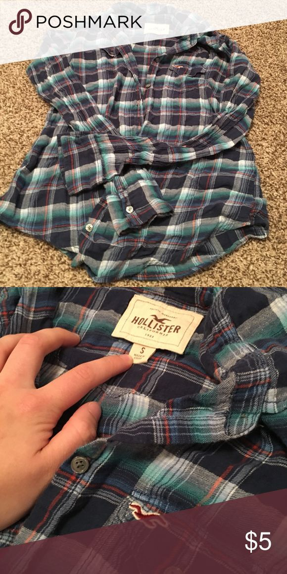 Light, flannel style shirt Very lightweight material, but very cute Hollister Tops Button Down Shirts