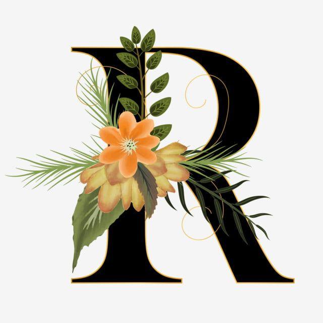 Alfabeto Floral R Com Fonte De Flor Feita De Tinta Floral E Aquarela De Folhas Letras De Flores Folhas Em Aquarela Folhas De Aquarela Imagem Png E Vetor Para Floral Painting
