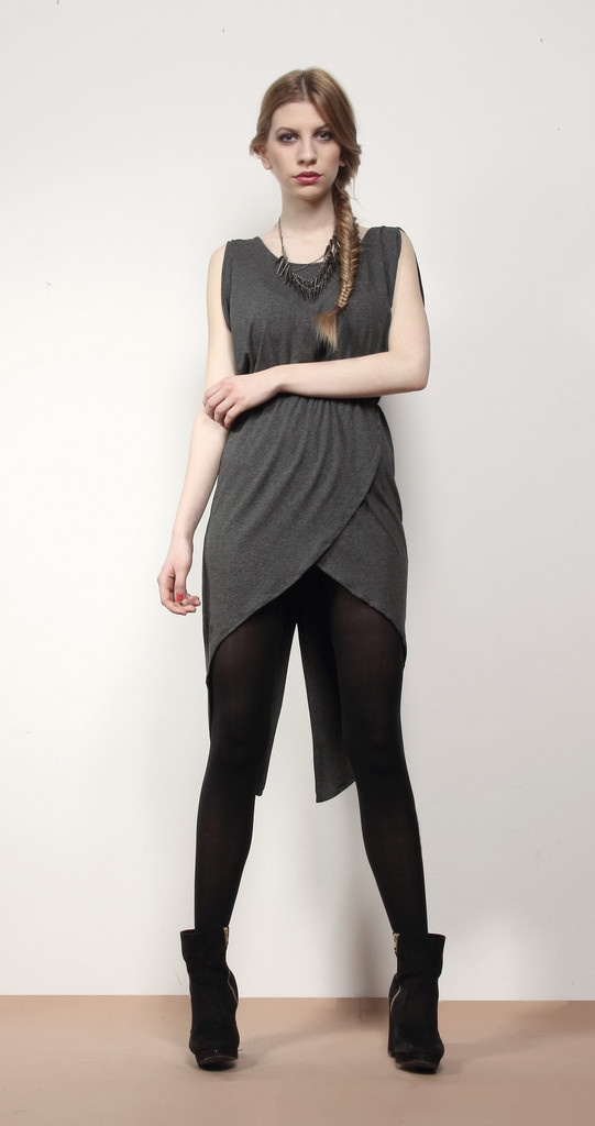 Layered Dress - Grey