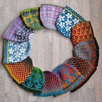 fair isle knitted hats by Ruth Sorensen