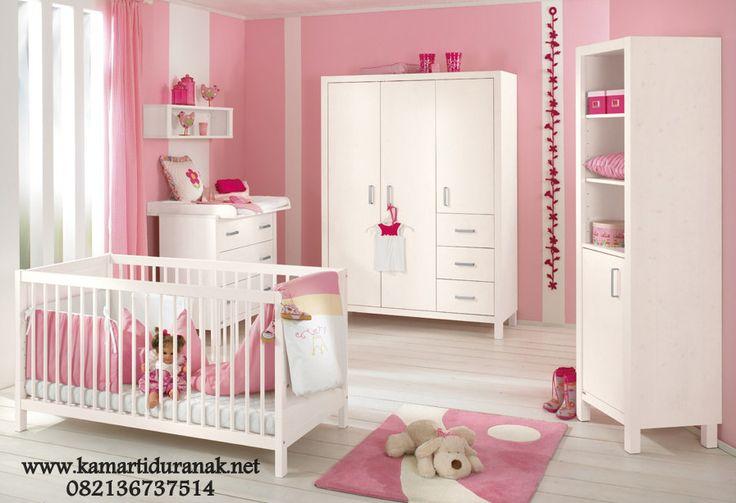 Satu Set Kamar Bayi Minimalis Putih Desain Sederhana