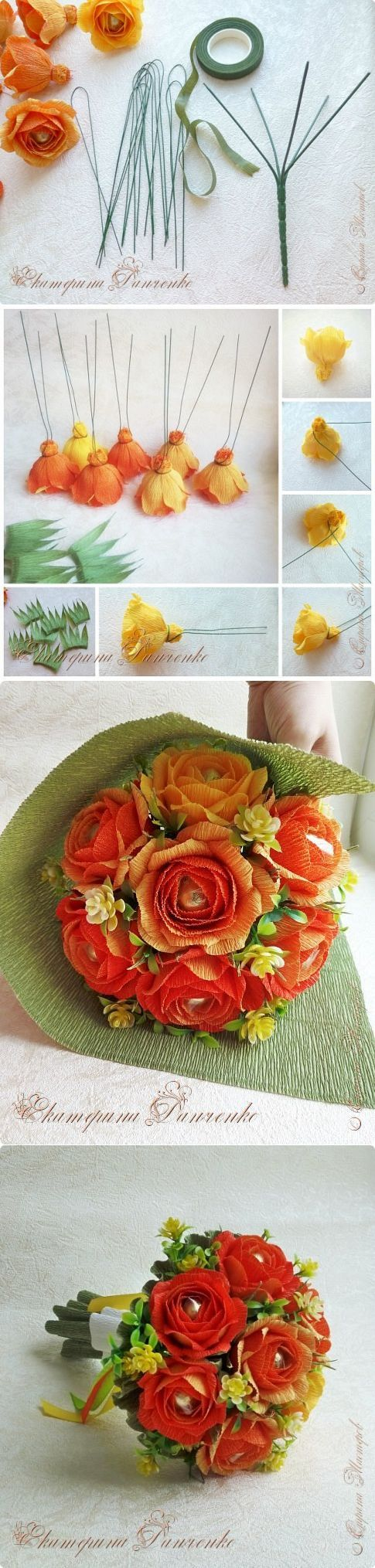 557 best projects to try images on pinterest paper crafts ferrero bouquetcandy bouquetflower craftsdiy izmirmasajfo