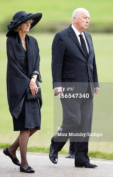 10/2/14.  News Photo : Peregrine Cavendish Duke of Devonshire attends...brother and sister