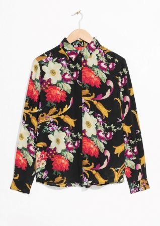 & Other Stories image 1 of Silk Shirt in Black