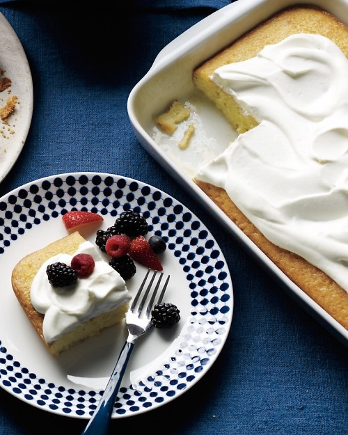 Coconut Tres Leches Cake with Berries and Cream: Cream Recipes, Potlucks Desserts, Coconut Milk, Cakes Recipes, Eating, Coconut Cakes, Martha Stewart, Baking, Berries